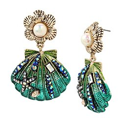Betsey Johnson® Seashell Drop Earrings