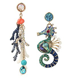 Betsey Johnson® Seahorse Mismatch Drop Earrings