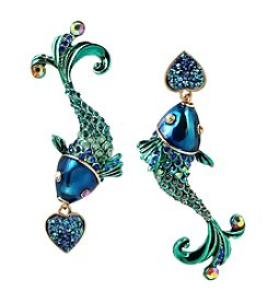 Betsey Johnson® Fish Mismatch Drop Earrings