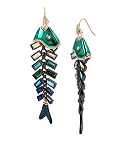 Betsey Johnson® Fish Linear Earrings