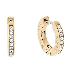 Micahel Kors® Pave Trimmed Hoop Earrings