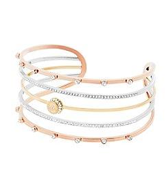 Michael Kors® Tri Tone Logo Cuff Bracelet