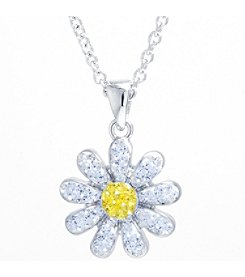 Athra Crystal Pave Daisy Pendant