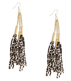 Robert Rose 3 Row Seedbead Tassel Earrings