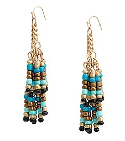 Robert Rose Beaded Tassel Earrings