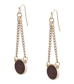 Robert Rose Wood Drop Earrings