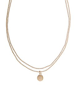Robert Rose 2 Row Choker With Disc Pendant