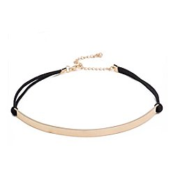 Robert Rose Cord Choker With Metal Bar