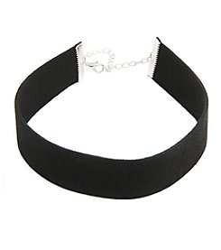 Robert Rose Wide Faux Leather Choker