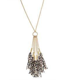 Robert Rose Seedbead Tassel Necklace
