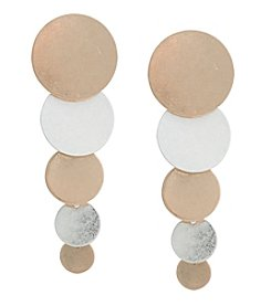 Robert Rose Circle Linear Drop Earrings