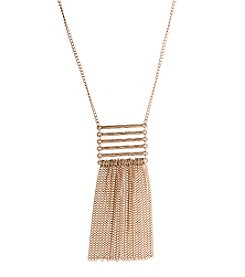 Robert Rose Bar And Tassel Necklace