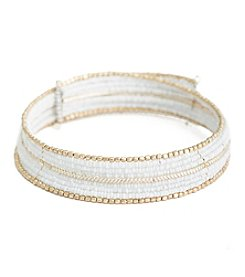 Robert Rose 9 Layer Seedbead Coil Choker