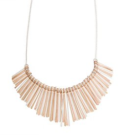 Robert Rose Paddle Bib Necklace