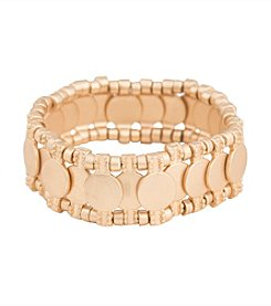 Robert Rose Overlap Metal Disc Stretch Bracelet