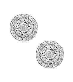 Effy® 925 Silver Diamond Earrings