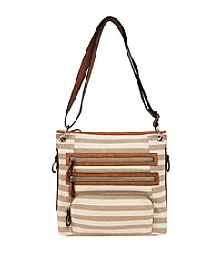 GAL Striped Canvas Crossbody