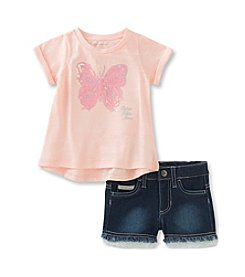 Calvin Klein Jeans Baby Girls' Butterfly Tee Shorts Set
