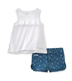 Calvin Klein Jeans Baby Girls' 2-Piece Tank Short Set