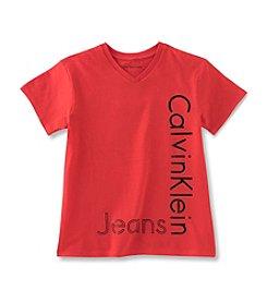 Calvin Klein Boys' 8-20 New Icon V-Neck T-Shirt