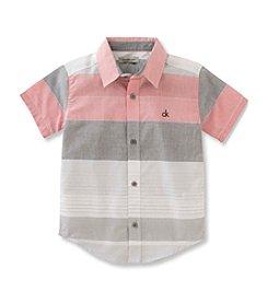 Calvin Klein Boys' 8-20 Horizontal Striped Shirt