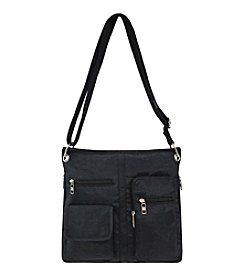 GAL Crushed Nylon Organizer Crossbody