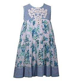 Bonnie Jean® Girls' 2T-6X Stripe Top Floral Tank Dress