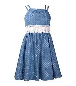 Bonnie Jean® Girls' 7-16 Double Strap Polka Dot Fit N Flare Dress