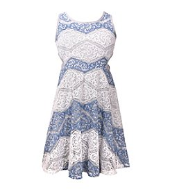 Bonnie Jean® Girls' 7-16 Two Tone Striped Lace Dress