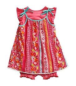 Sweet Heart Rose® Baby Girls' 3-Piece Romper Dress Set