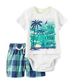 Carter's® Baby Boys' Sea You Later 2-Piece Shorts Set