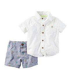 Carter's® Baby Boys' Palm Schiffli Shorts Set