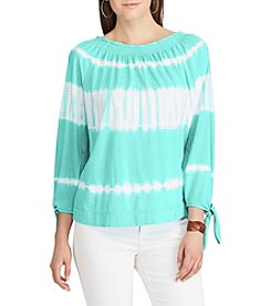 Chaps® Stripe Peasant Top