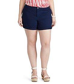 Chaps® Plus Size Stretch Twill Shorts