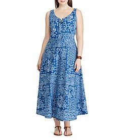 Chaps® Plus Size Patchwork-Print Jersey Dress
