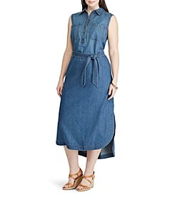Chaps® Plus Size Denim Shirt Dress