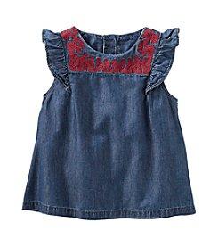 OshKosh B'Gosh® Girls' Embroidered Neck Tank Top