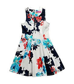 Bloome Girls' 7-16 Floral Print A-Line Dress