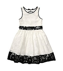 Bloome Girls' 7-16 Lace Fit 'N Flare Dress