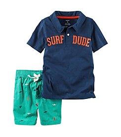 Carter's® Boys' 2T-4T 2-Piece Surf Dude Shorts Set