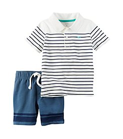 Carter's® Boys' 2T-4T 2-Piece Polo And Shorts Set