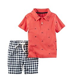 Carter's® Boys' 2T-4T 2-Piece Gingham Shorts Set