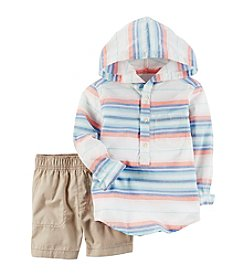 Carter's® Boys' 2T-4T 2-Piece Hoodie And Shorts Set