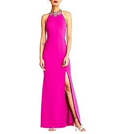 Adrianna Papell® Beaded Neck Gown