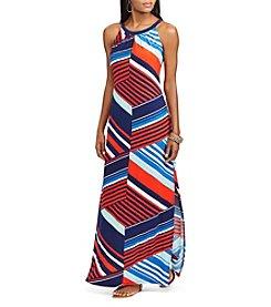 Chaps® Geo Maxi Dress