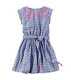 Carter's® Girls' 2T-6X Print Dress with Embroidery