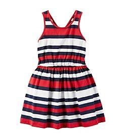 Carter's® Girls' 2T-8 Americana Stripe Jersey Dress