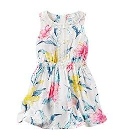 Carter's® Girls' 2T-6X Lace Poplin Dress