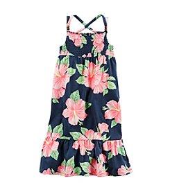 Carter's® Girls' 2T-8 Floral Print Maxi Dress