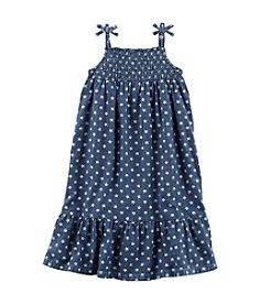 Carter's® Girls' 2T-8 Star Print Americana Chambray Dress